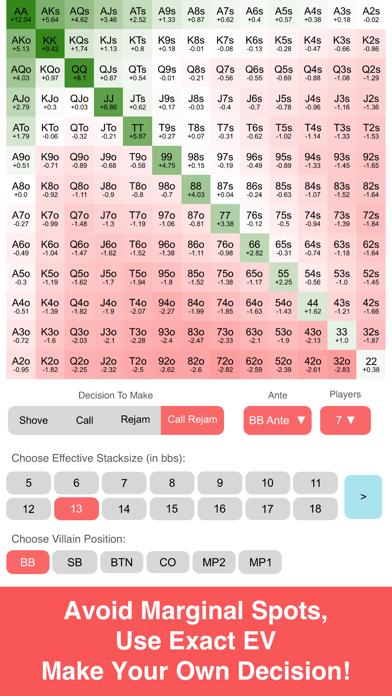 Preflop+ Poker GTO Nash Chartsのおすすめ画像7