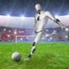 引导足球 - 机器人踢