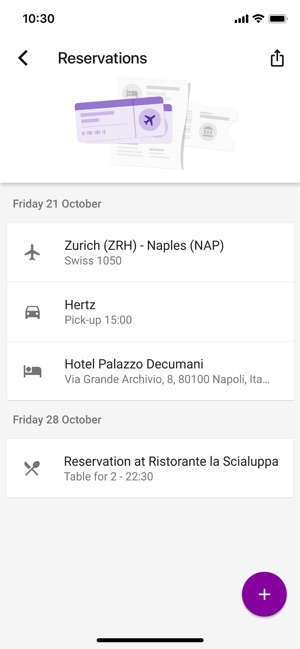 Google Trips Screenshot