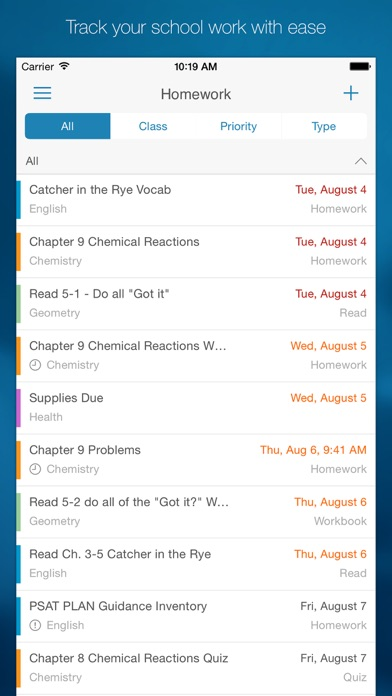 myHomework Student Planner iPhone