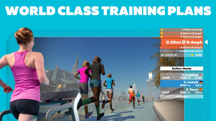 Zwift: Running and Cycling