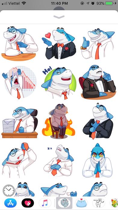 Shark Boss Emoji Stickers screenshot 1