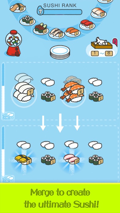 Merge Sushi - Best Idle Game screenshot 4