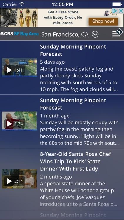 CBS SF Bay Area Weather screenshot-3