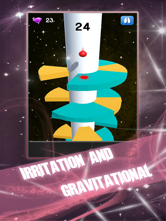 Galaxy Jump-Helix jump game by ZHANG QU (iOS, United States