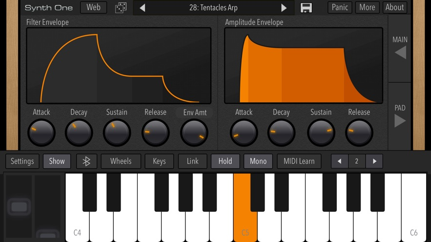 AudioKit Synth One Synthesizer App 截图