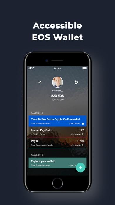 EOS(イオス)仮想通貨ウォレット: Freewalletのスクリーンショット1