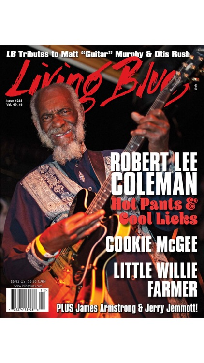 LIVING BLUES MAGAZINE screenshot-1