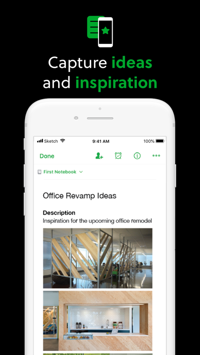 Evernote Screenshot on iOS