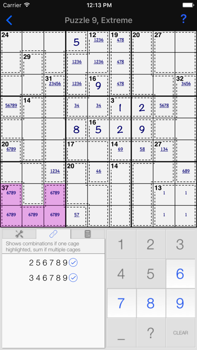 Killer Sudoku + screenshot one