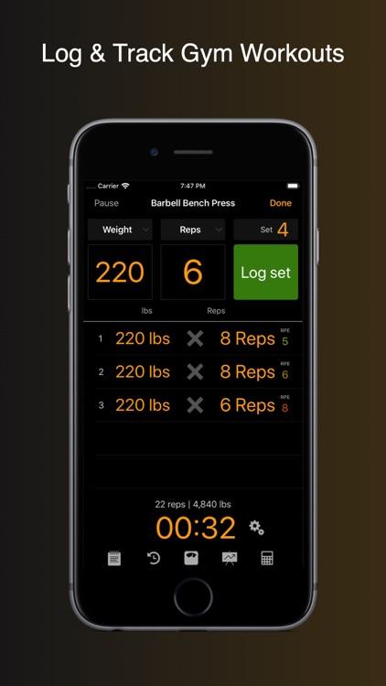 Gym Horn: Workout Tracker Log screenshot-0