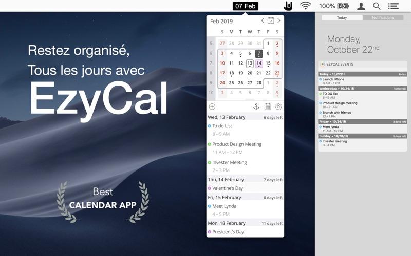 Screenshot EzyCal
