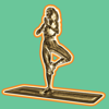 download 3D Exercise Yoga Gold Stickers