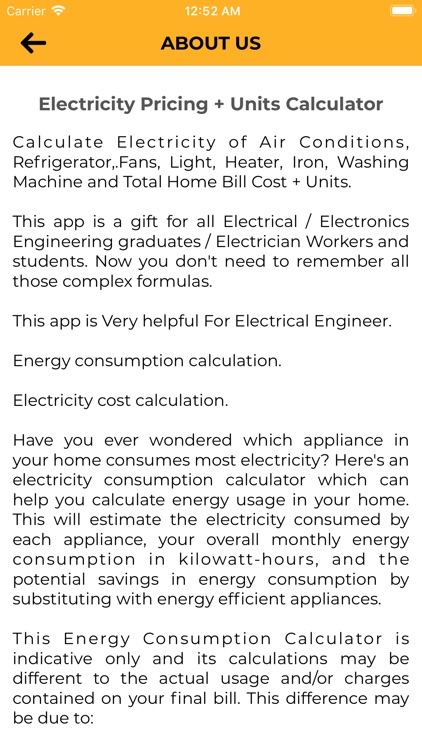 Electricity Pricing+ UnitsCalc screenshot-8