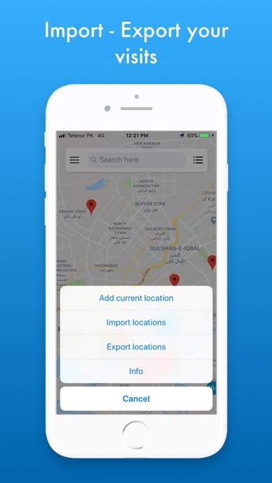 MZVisits - Travelling tracker screenshot 6