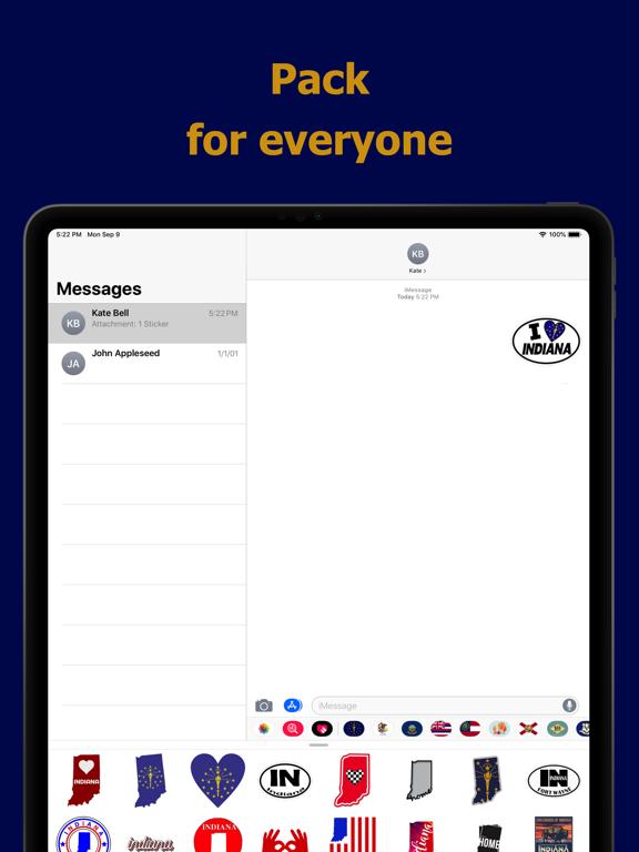 Indiana emojis - USA stickers screenshot 9