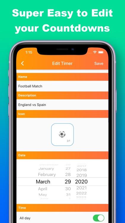 Countdown Timer & Reminder screenshot-4