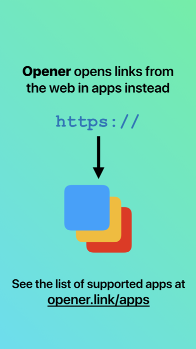 Screenshot for Opener ‒ open links in apps in Italy App Store