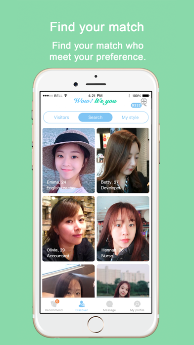 Screenshot for WowU - Face Recognition Dating in Singapore App Store