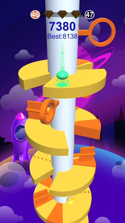 Hop Ball-Bounce On Stack Tower
