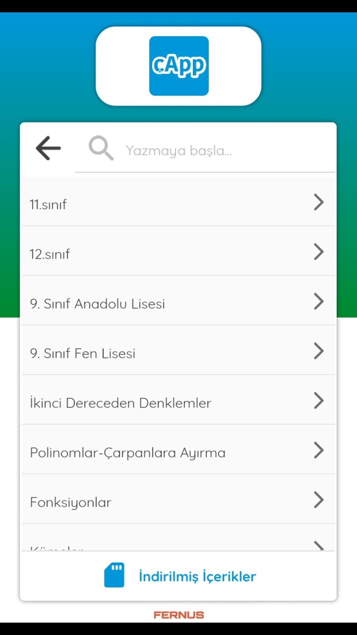 cApp Screenshot