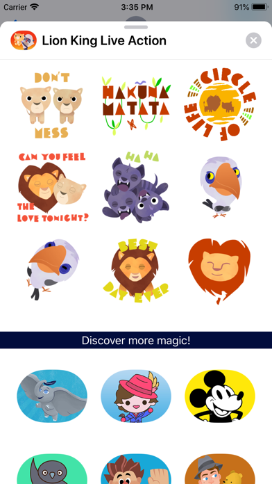 The Lion King Stickers screenshot 2
