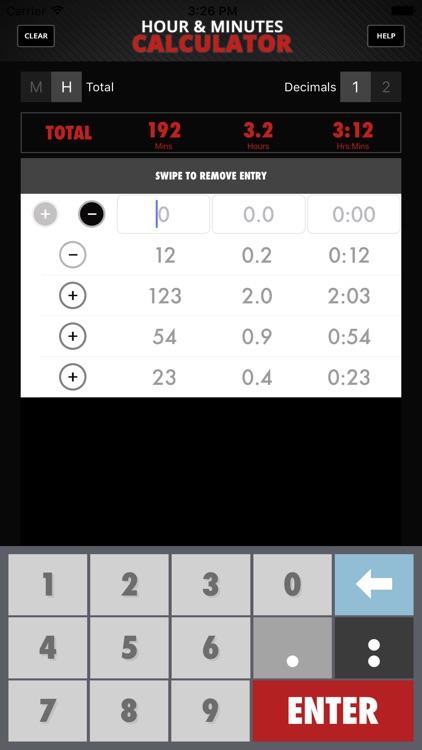 Calculator Hour & Minutes screenshot-3