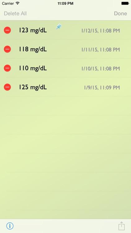 Glucose Recorder w/ Trial screenshot-4