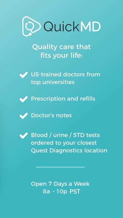 QuickMD - Online Doctor Visits screenshot-4