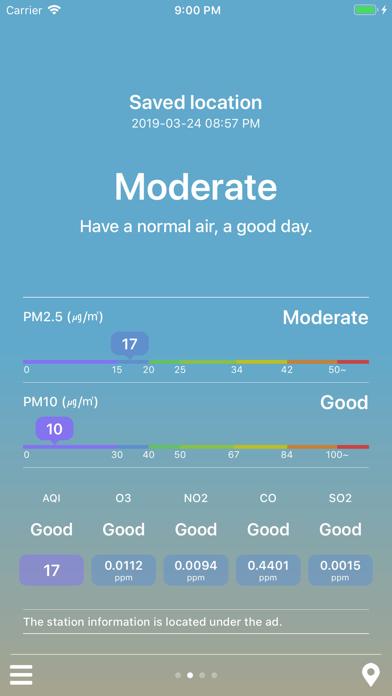 MiseNo - Air Quality Forecast app image