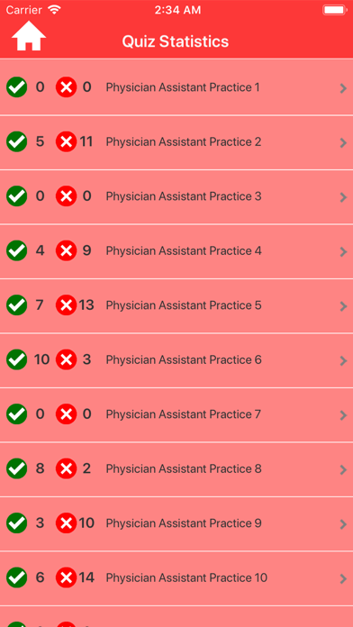 Physician Assistant Practice Screenshot