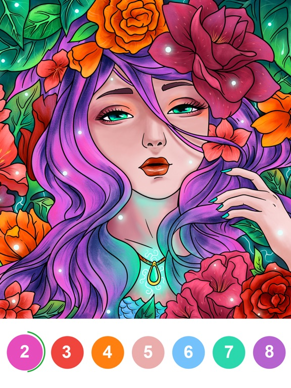 iPad Image of Paint By Number: Coloring Book