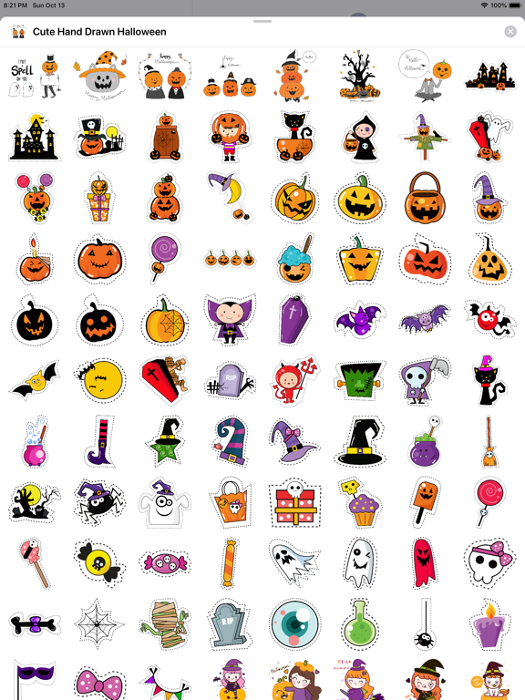 260+ Cute Hand Drawn Halloween screenshot 9