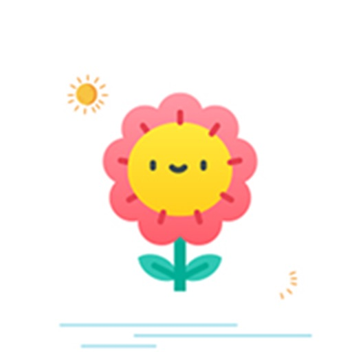 Cute flower Sticker