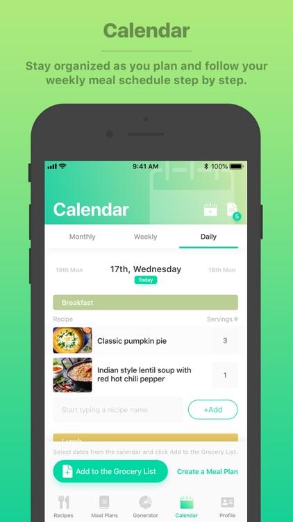 Burst Menu - Meal Planner screenshot-6