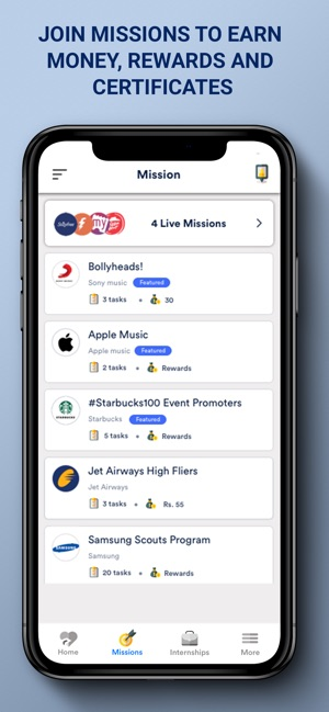 Frapp - Internships & Missions on the App Store