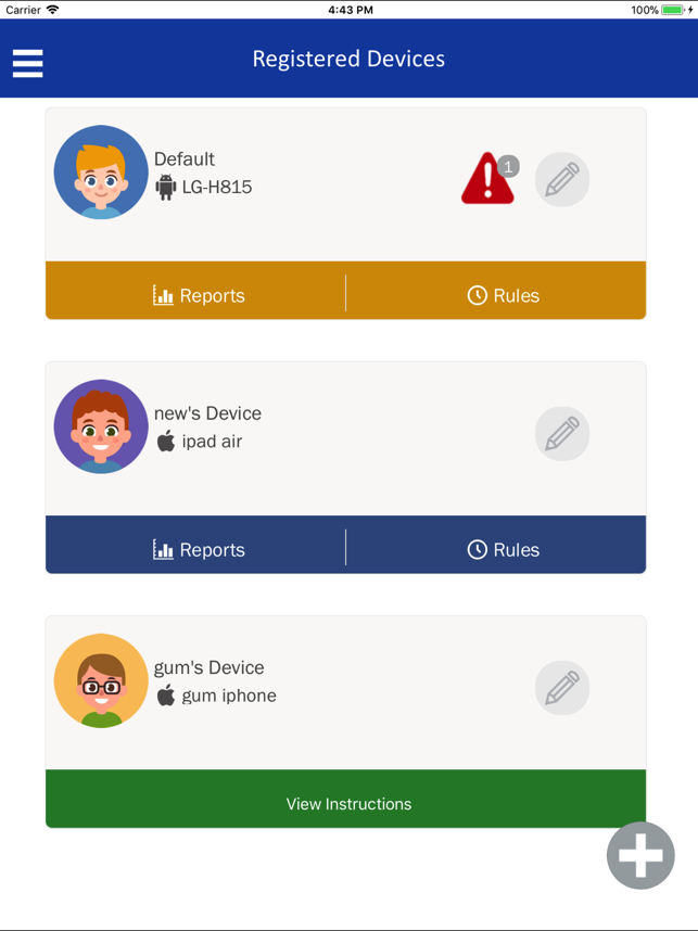 ‎SecureTeen Parental Control Screenshot