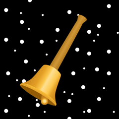 Goldene Weihnachtsglocke