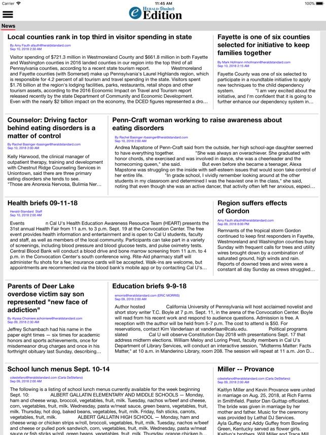 HeraldStandard com e-Edition on the App Store