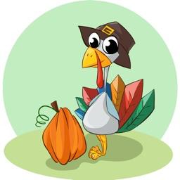 Thanksgiving Turkey Sticker