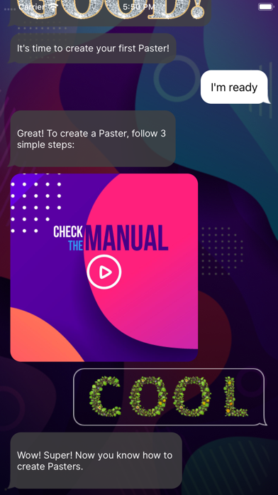 Pasters: Fonts for GIF texting screenshot 2