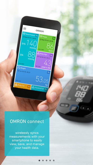 messages.download OMRON connect software