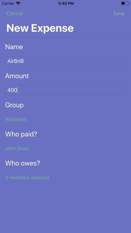 MoneySplit - Share Expenses screenshot-4