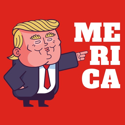 Trumps Merica Sticker