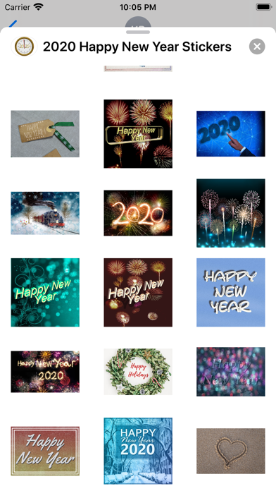 2020 Happy New Year Stickers screenshot 9