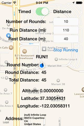 Distance Interval Trainer - náhled
