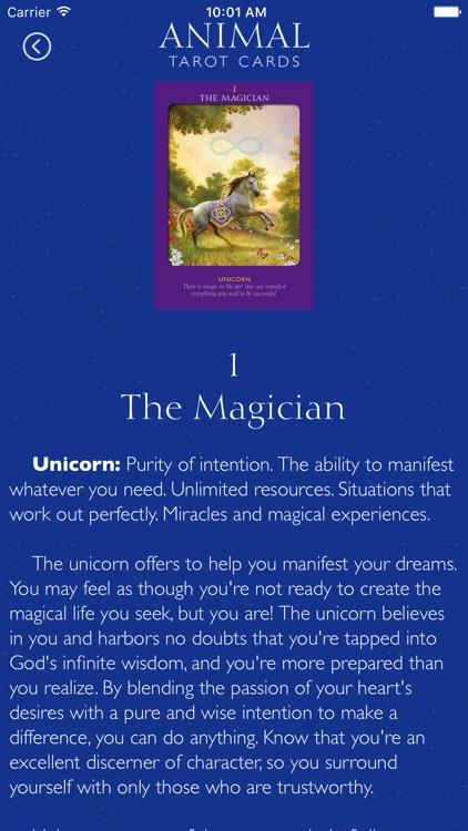 Animal Tarot Cards screenshot-3