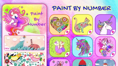 Paint By Number: Unicorn Color Screenshot on iOS