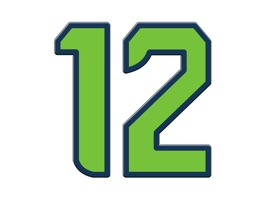 "OK 12's, this sticker app was created in support of diehard Seattle football fans and our video game ""12 The Seahawk"" (available now on the App Store)"