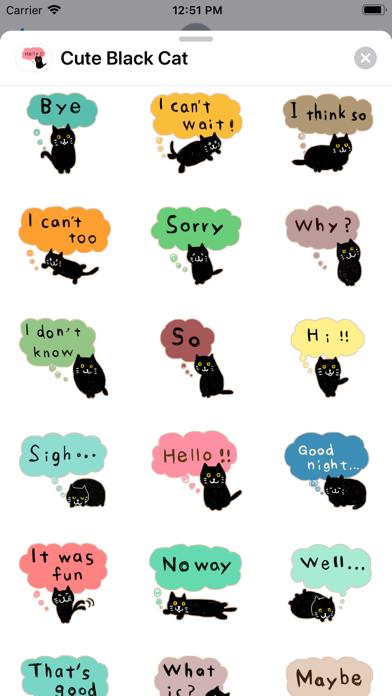 Cute Black - Cat screenshot 2